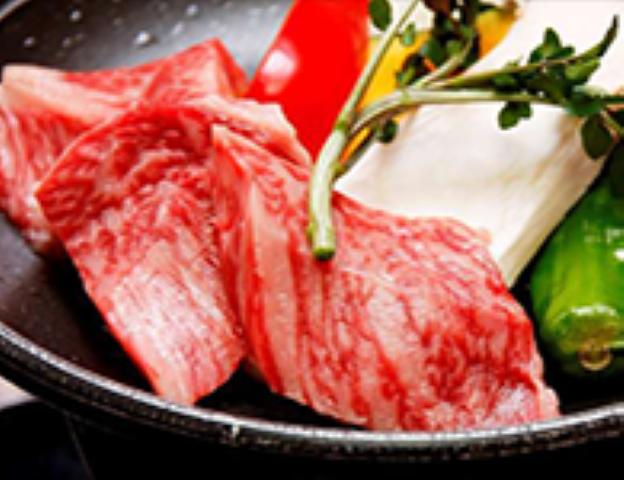 栃木県産牛肉の陶板焼き